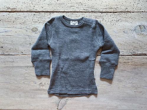 Tröja merinoull grå | ManyMonths