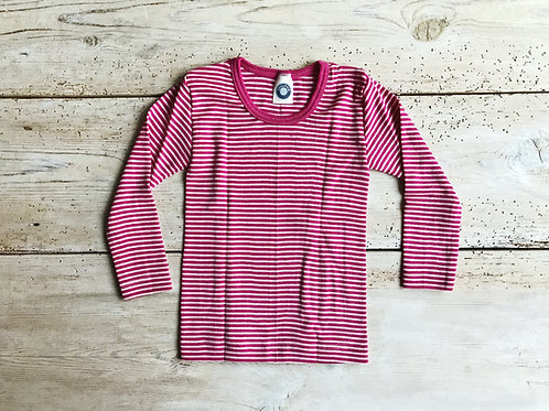 Tröja ullsilke rosa rand | Cosilana