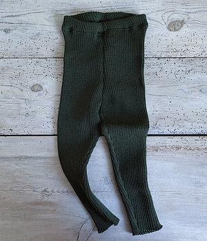 Byxa ribbstickad grön   Disana