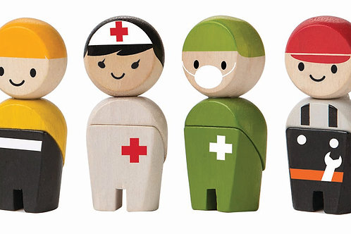 Småfigurer räddningspatrull | PlanToys