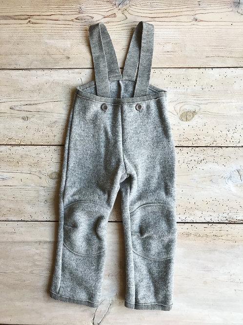 Hängselbyxa kokt ull grå | Disana
