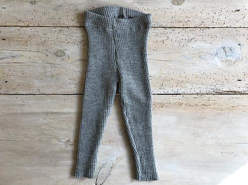 Byxa ribbstickad grå | Disana