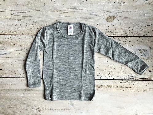 Tröja ullsilke grå | Engel