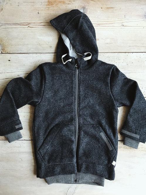 Friluftsjacka kokt ull mörkgrå | Disana