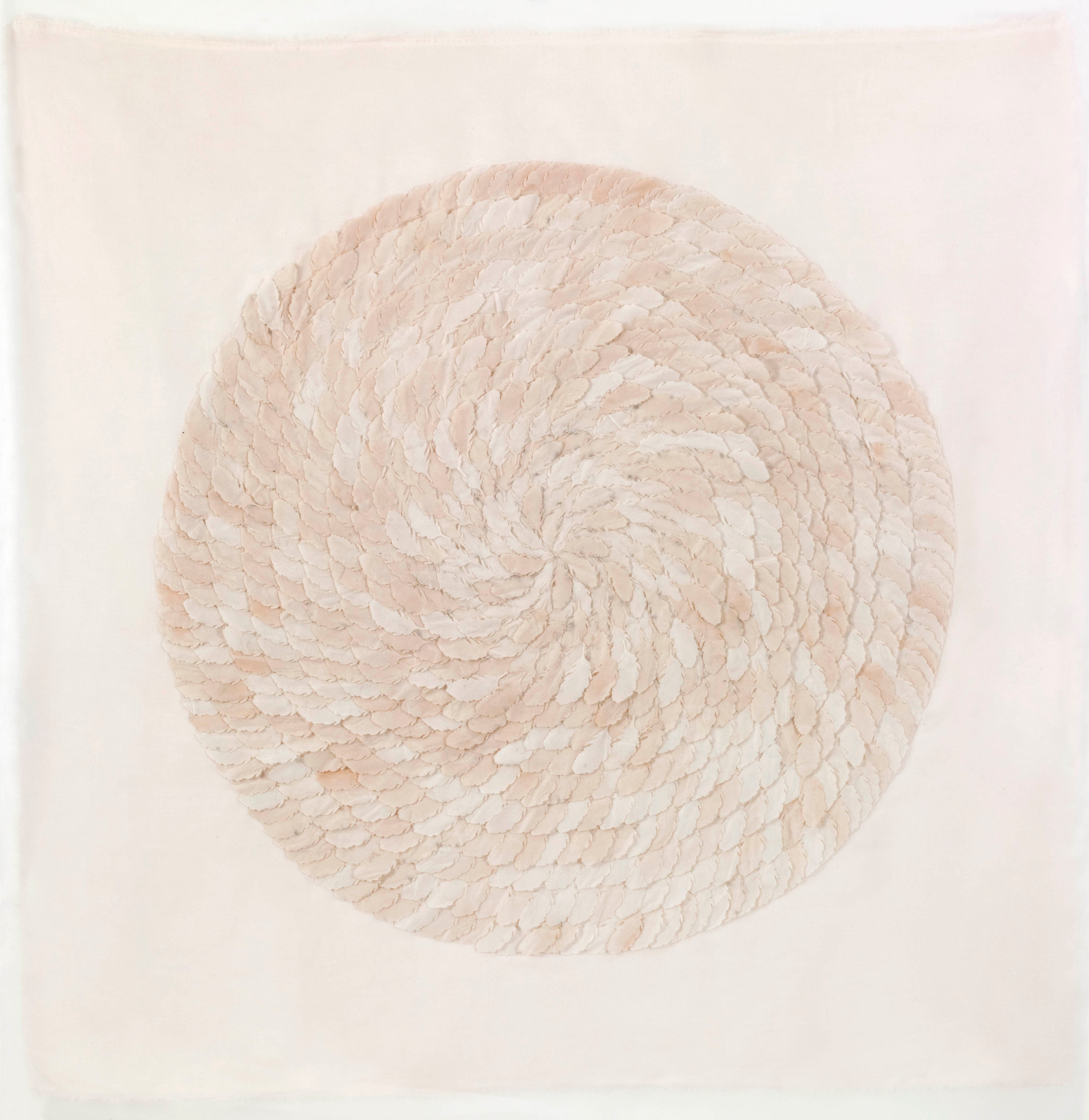 Natural feather/2012/Silk Paper/110x110 cm