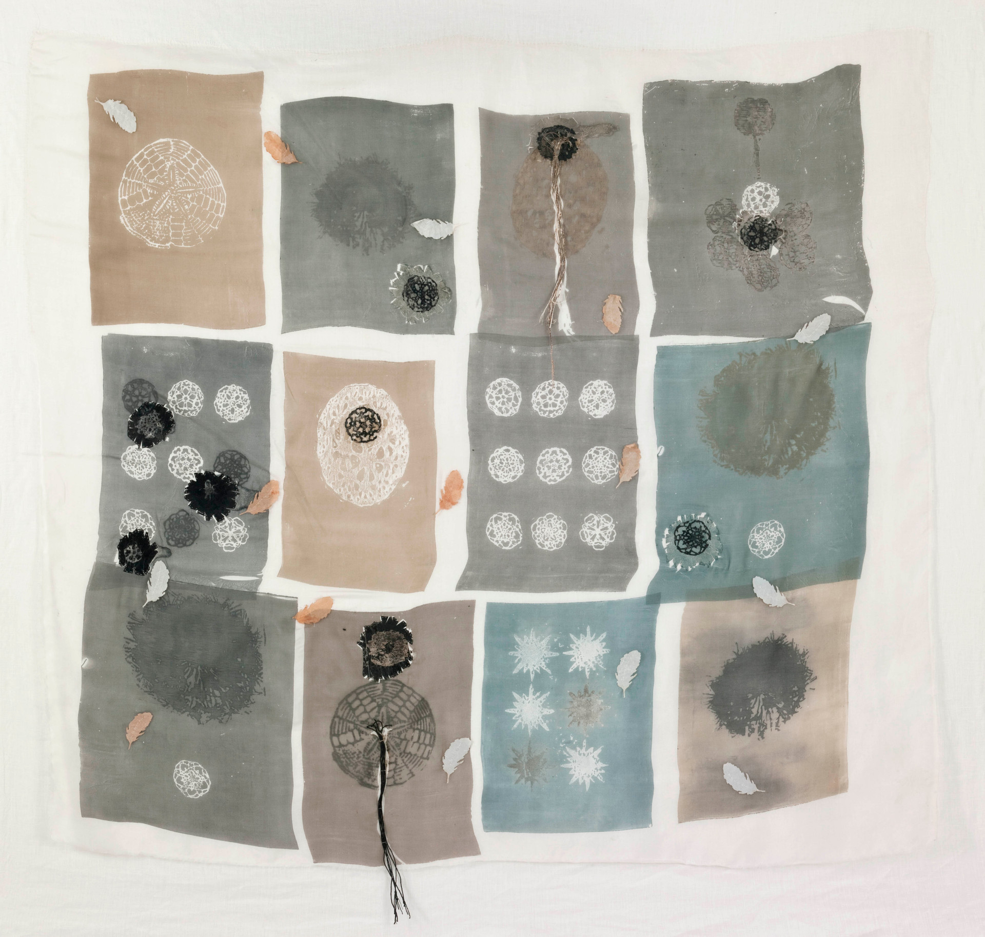 Silk & Graphic/2011/ Silk Paper Sewing Etching/118x122 cm