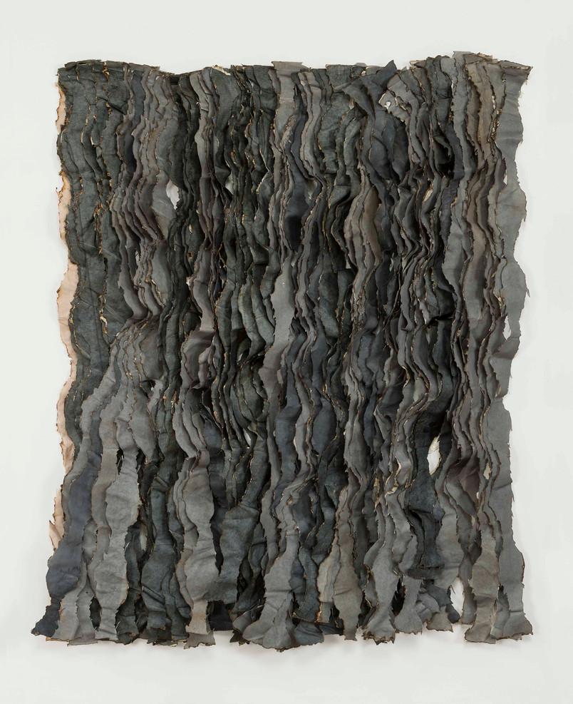 Gray Extinction/2020/Mixed techniques on paper & silk/166x82 cm
