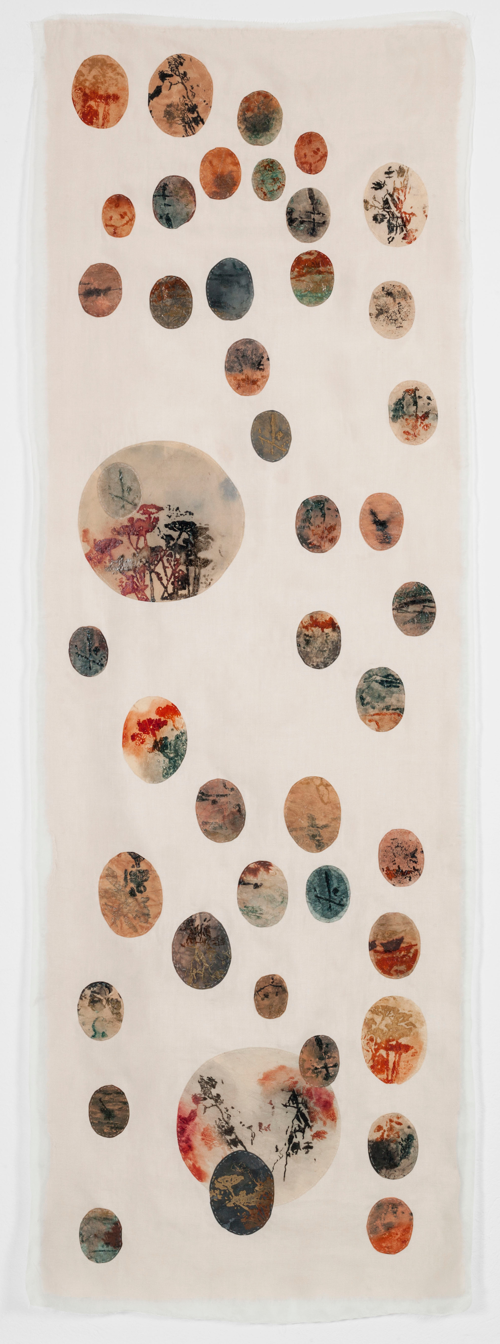 Japanese botany/2013/Paper Sewing Etching/158x54 cm