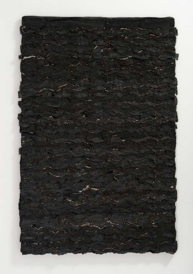 Extinction/2018/Silk and paper/155x105 cm