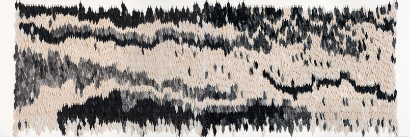 Living structure/2017/Silk Paper Ink/135x330 cm