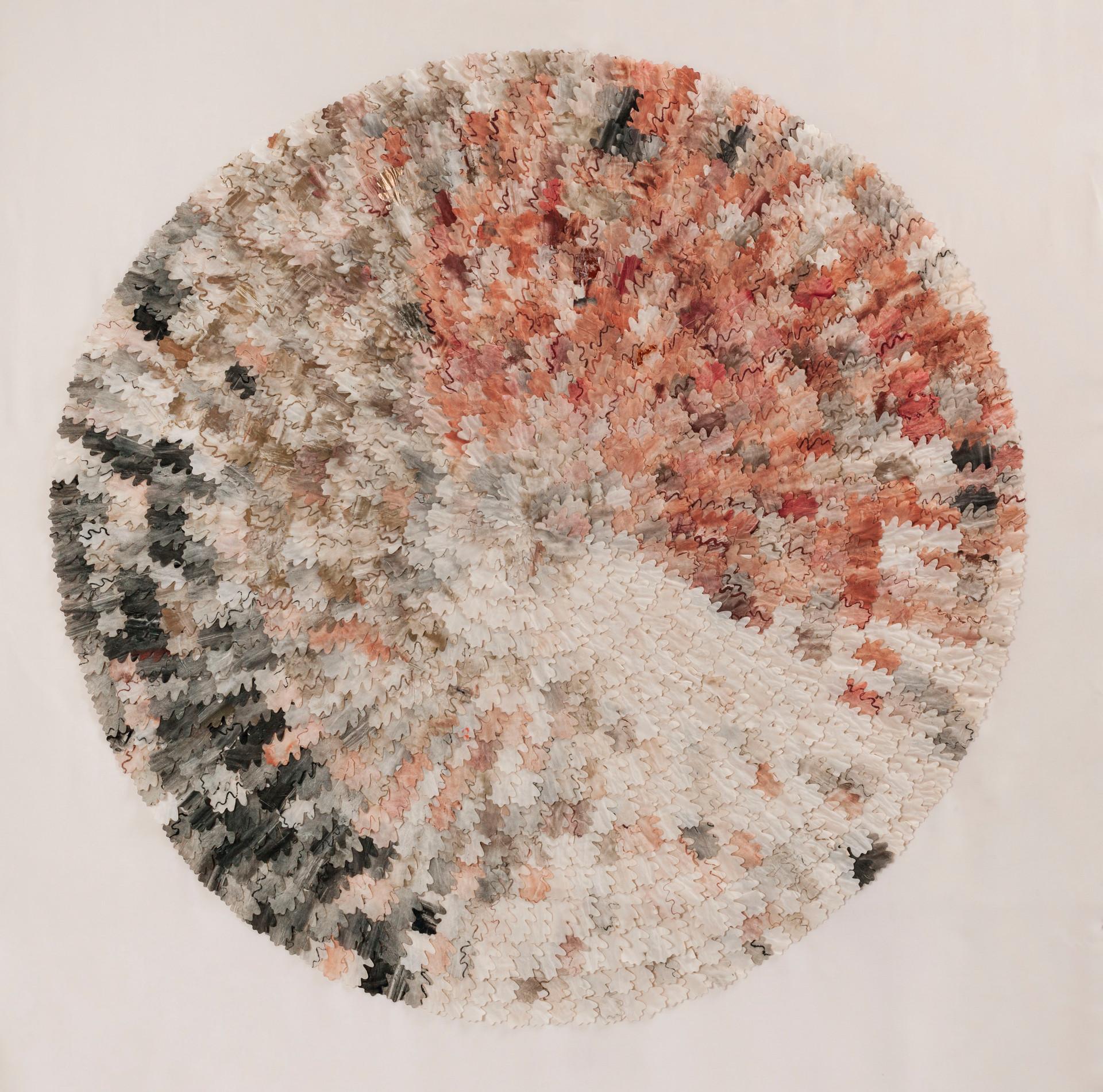 Autumn oak/2013/Silk Paper Etching/120x120 cm