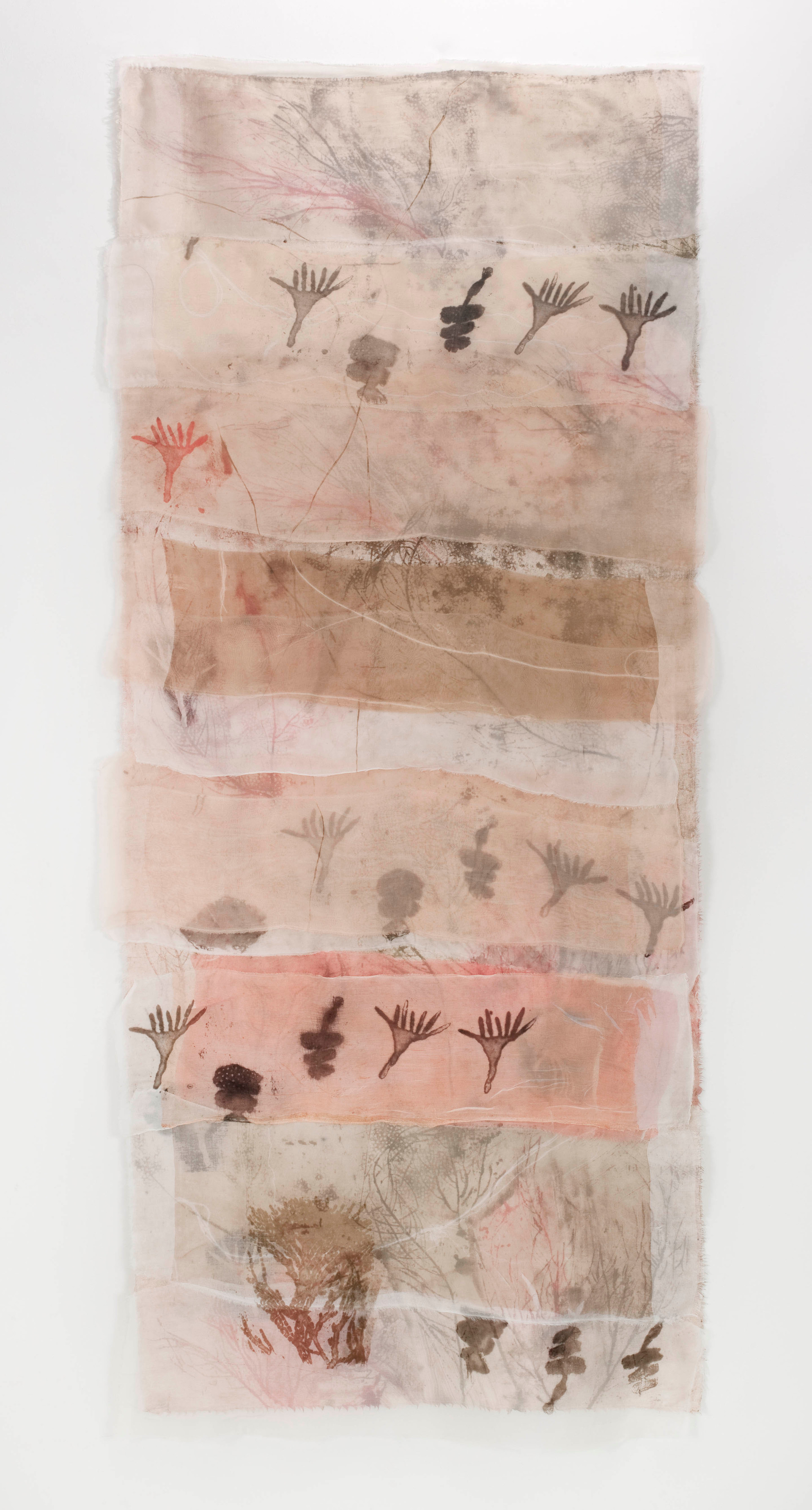 Corals/2013/Etching on silk and linen/143x60 cm