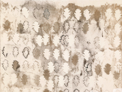Engraved leaves/2011/Etching on linen/68x83 cm