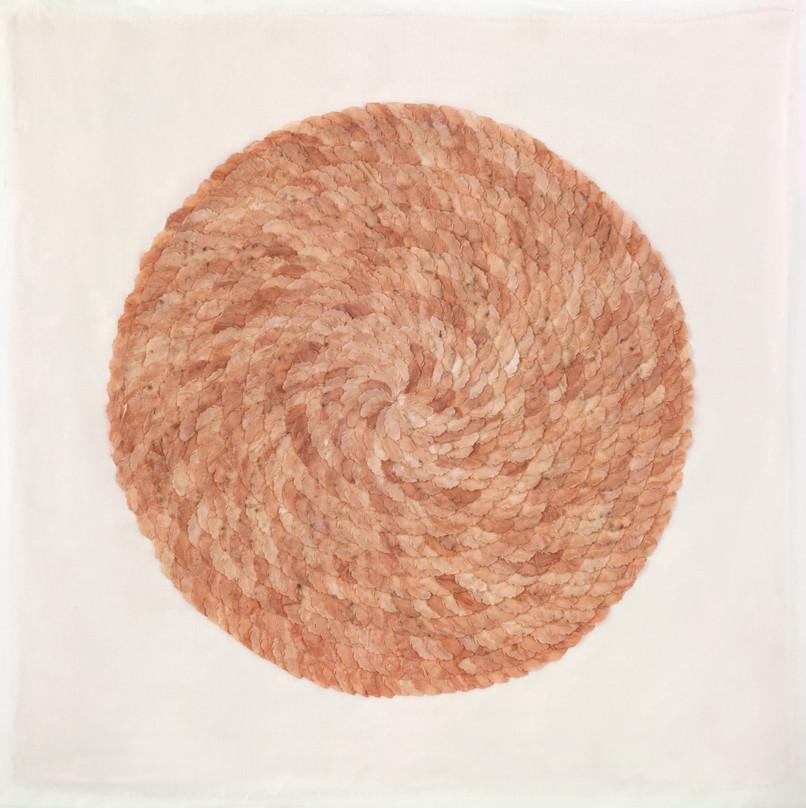 Tea feather/2013/Silk Paper Ink/104x109 cm