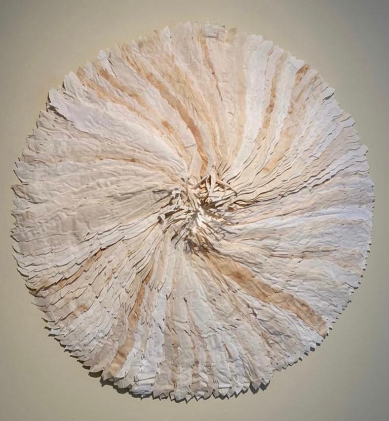 Karensansui/2021/ Paper and silk/ 100 cm diameter