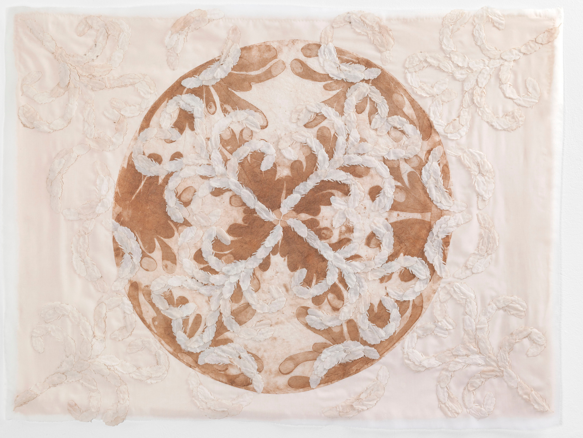 Feather filigree/2014/Silk Paper Sewing Etching/80x108 cm