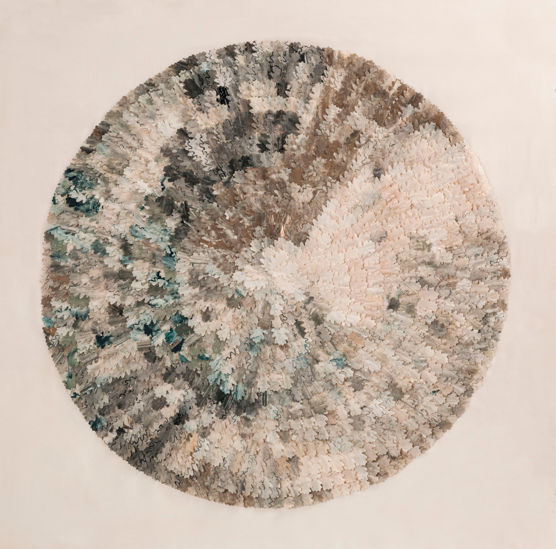 Winter oak/2014/Silk Paper Etching/120x120 cm