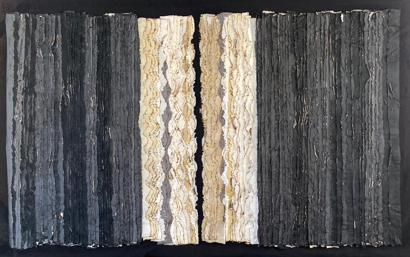 Horizon Extinction/2020/Mixed techniques on linen/166x120 cm