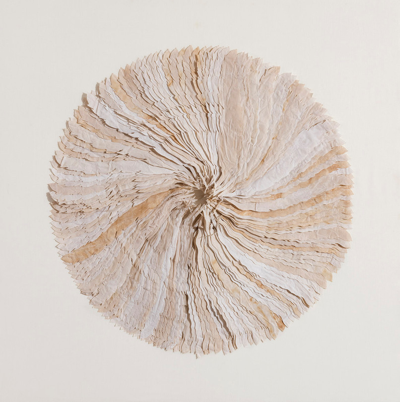 Movement/2016/Silk Paper/120x120 cm