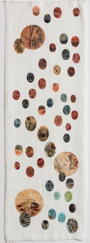 Japanese Botany/2016/Silk Paper Etching/160x55 cm