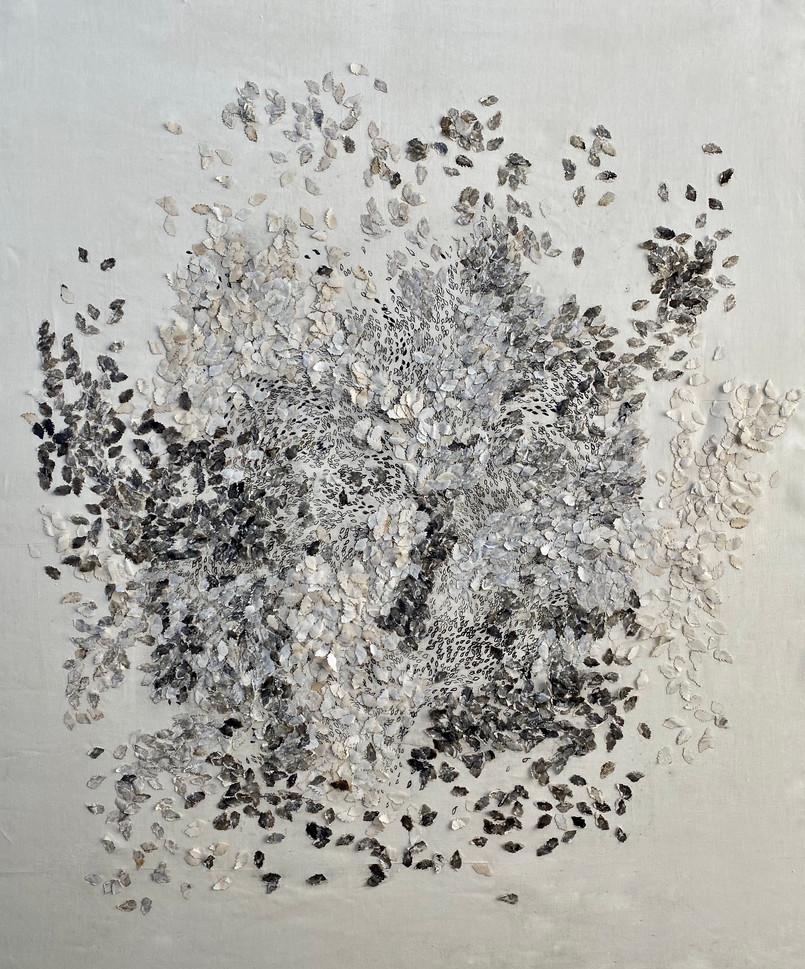 Agrimonies/2020/Mixed techniques on linen/155x106 cm