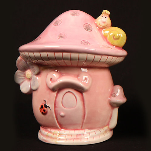 Mushroom House Money Bank (Unpainted)
