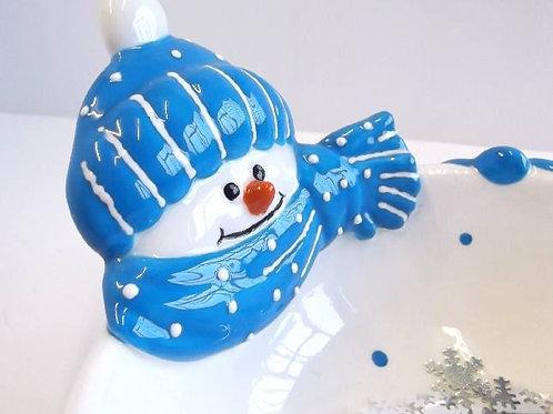 Snowman Bowl (Unpainted)