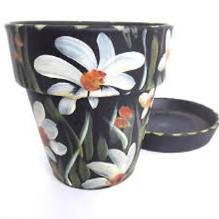 Small Flower Pot and Saucer (Unpainted)