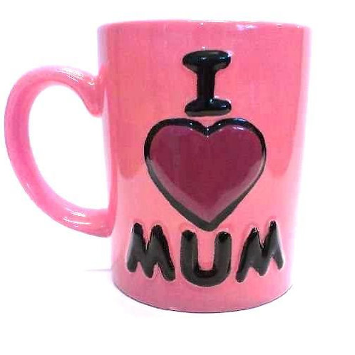 I Love Mum Mug (Unpainted)