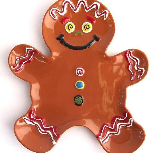 Gingerbread Man Plate (Unpainted)
