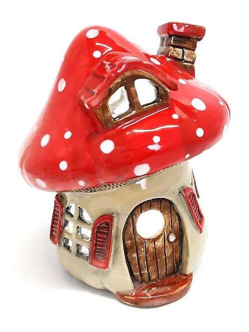 Mushroom House Lantern (Unpainted)