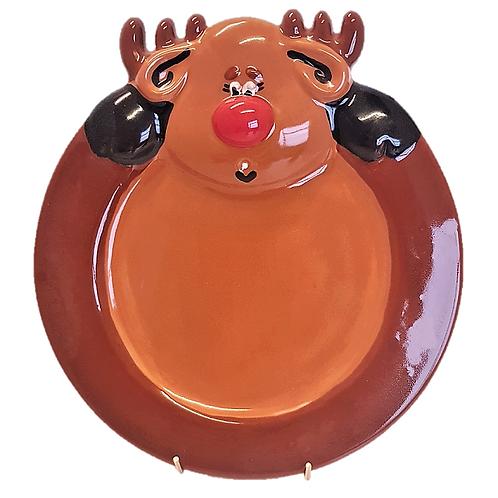 Reindeer Plate (Unpainted)