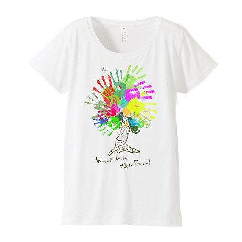 ワンフェス植林手型Tシャツ [womens]