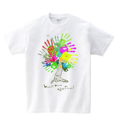 ワンフェス植林手型Tシャツ[ユニセックス] [kids/mens]