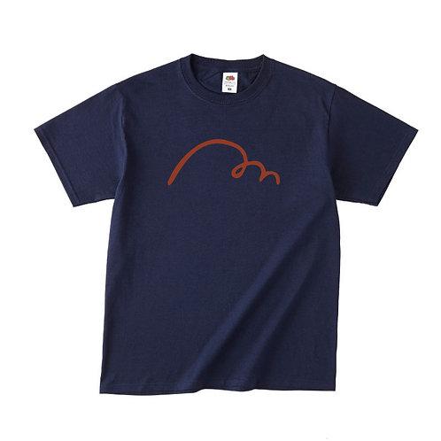 【予約販売】MAKE HAPPY Tシャツ (ネイビー) (理事長就任限定カラー)