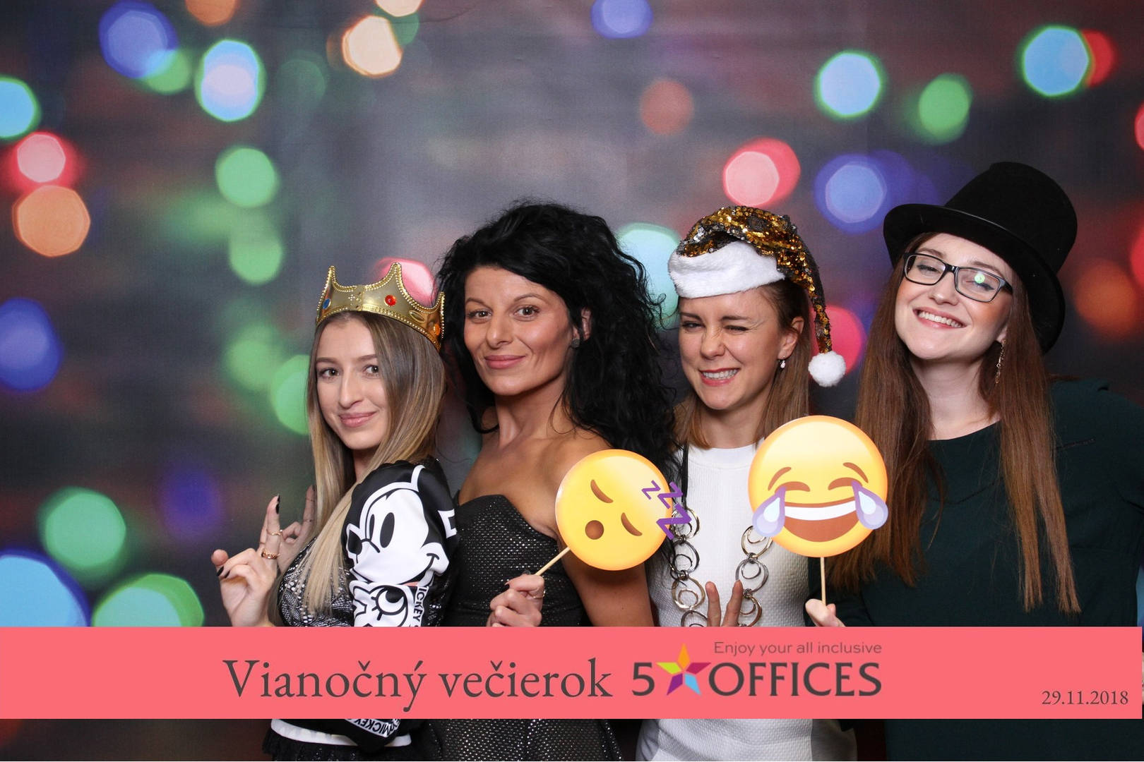 xmass party with photobooth