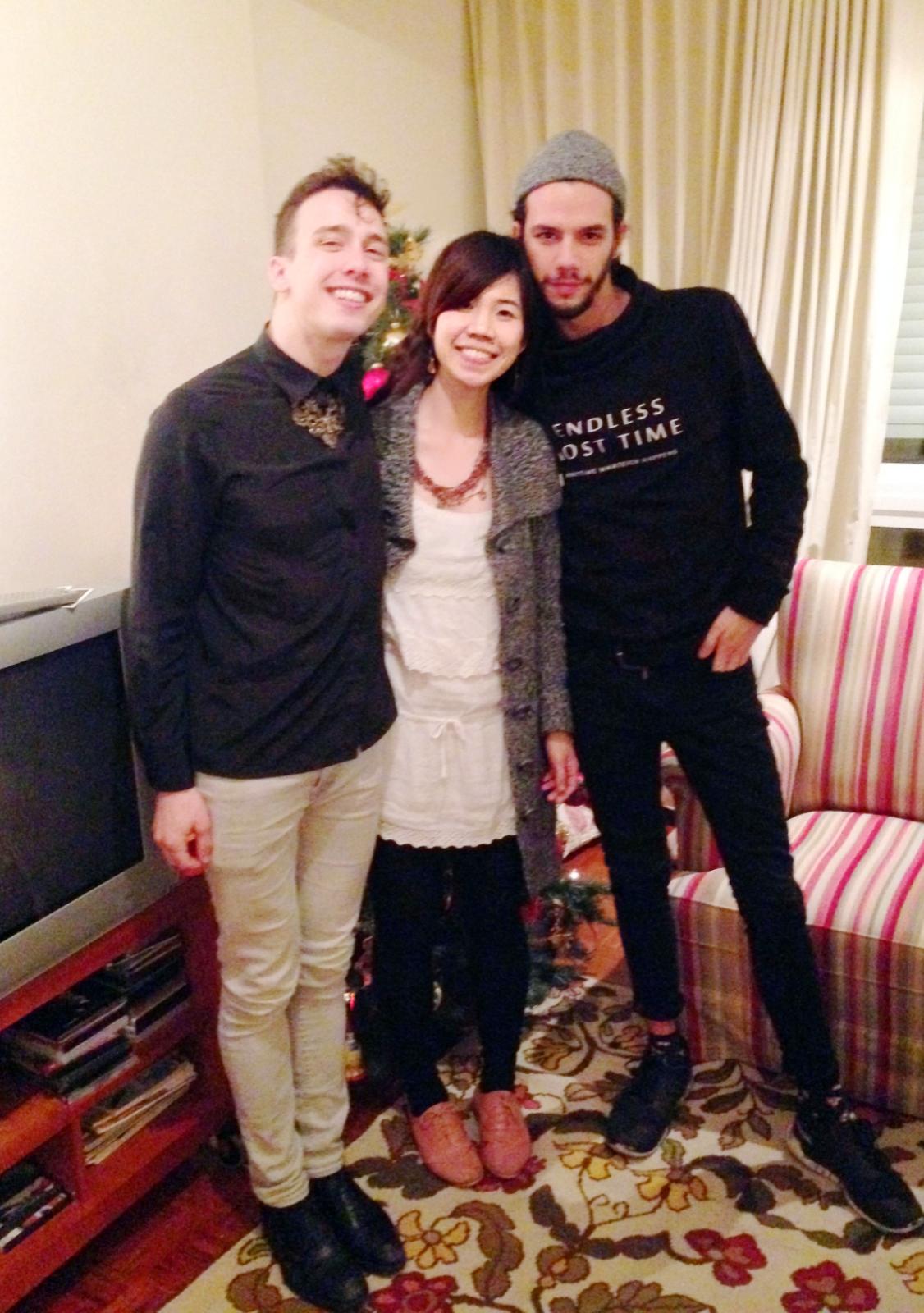 Mike, Fionn with Pedro Marum
