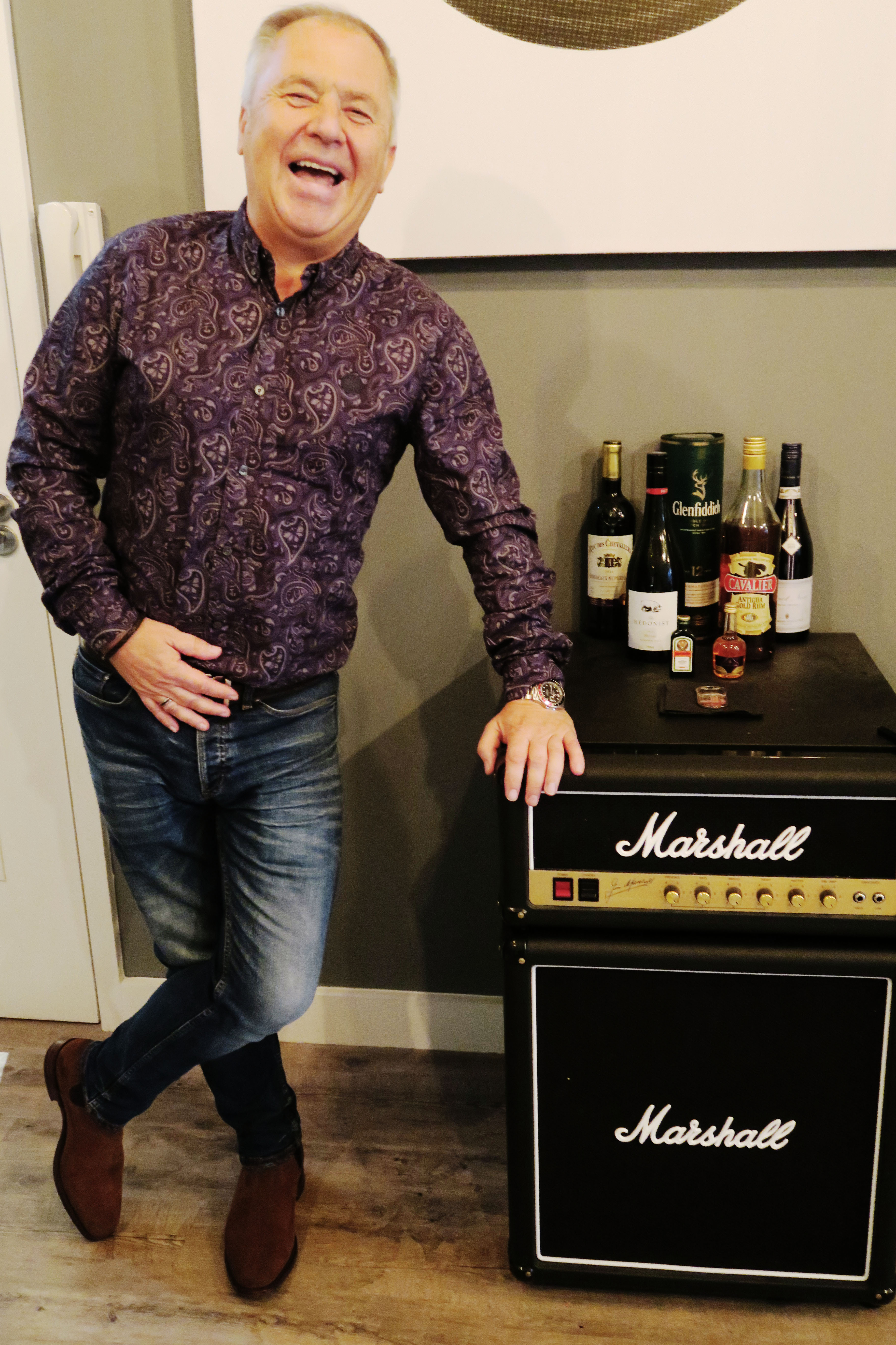 Steve Tannett with Marshall fridge