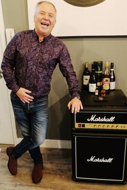 Steve Tannett with Marshall fridge