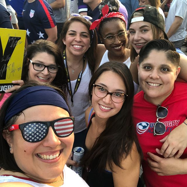 Congrats _usarugby men! The Riveters enjoyed the riveting game! #rugby #womensrugby #texasrugby