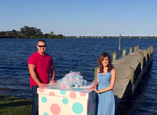 Baby Behr Gender Reveal Box Tutorial