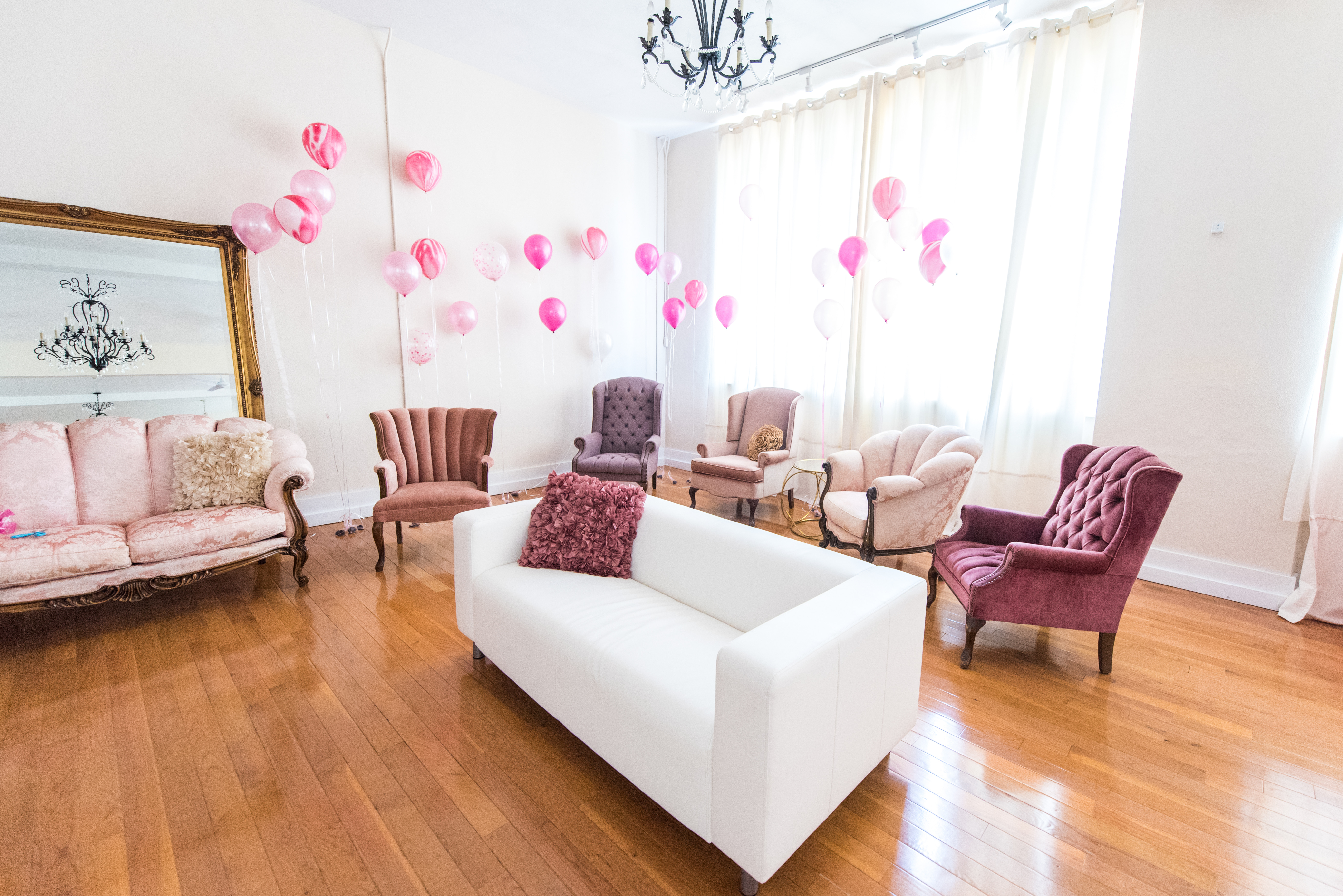 Pink Lounge Seating