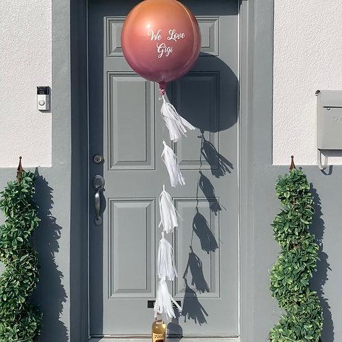 Custom Lettered Orbz Balloon
