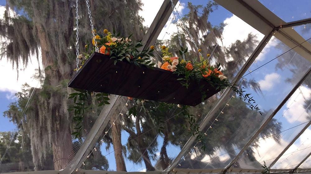 Lighted Floral Chandelier