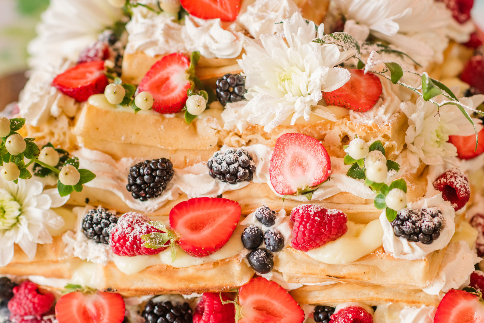 Waffle Cake - Green Turtle Catering