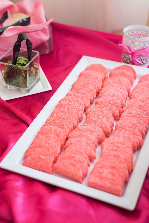 Mini pink tacos