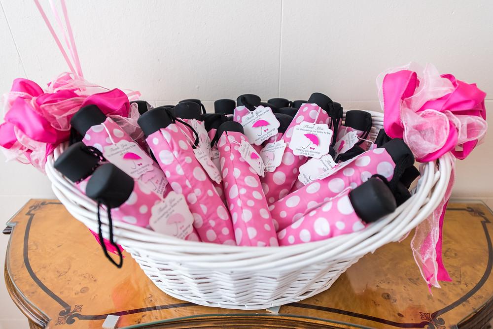 Mini Pink Umbrella Favors : Kayla Huston Events
