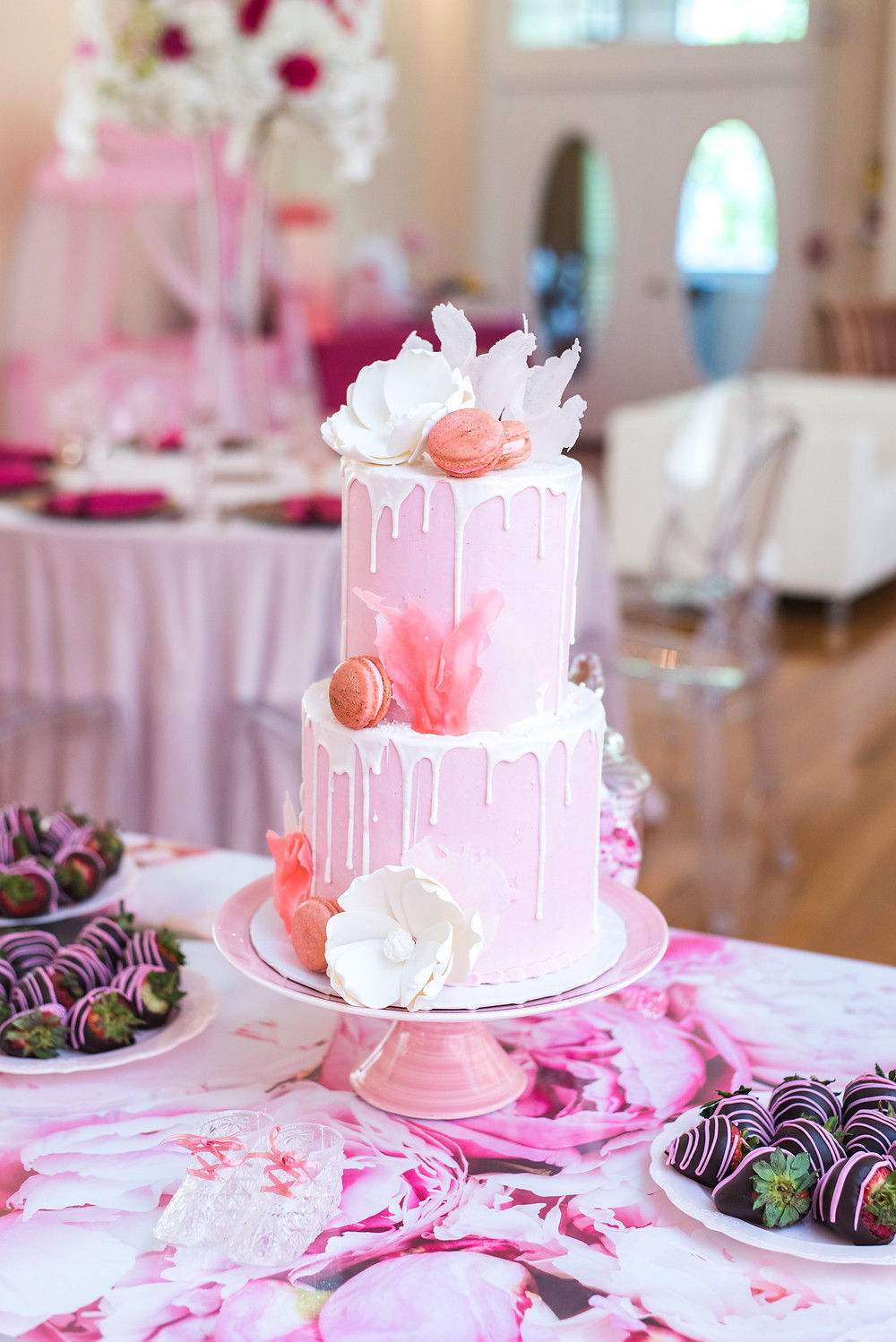 Kayla Huston Events Pink Drip Cake