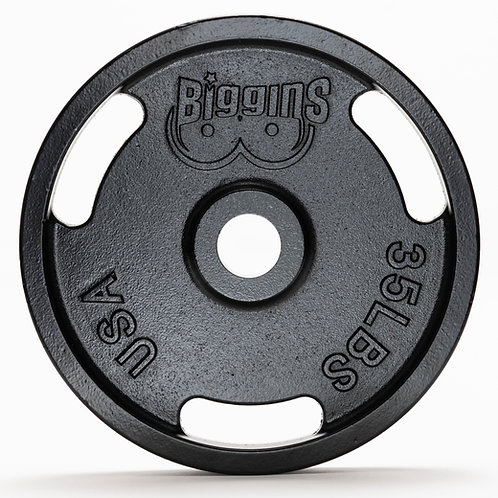 IN STOCK - PAIR - 35lbs - Machined Cast Iron Training Plates