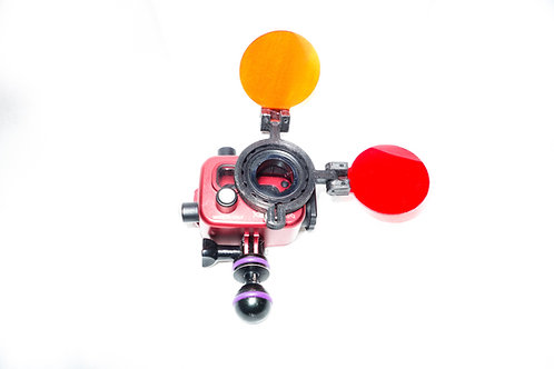 Double flip filter action cam/Filtro  doble para action cam